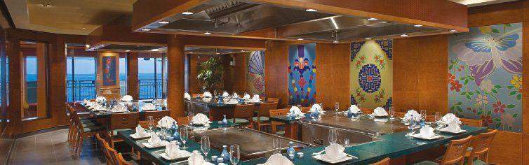 Restaurant Teppanyaki du bateau de croisière Celebrity Jewel