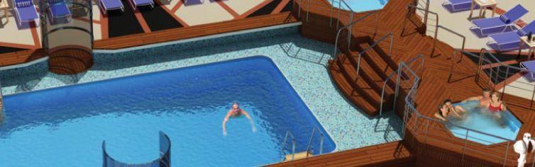 Piscine du bateau de croisière Queen Elizabeth