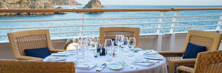 Restaurant du bateau de croisière SeaDream I