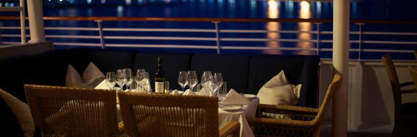 Restaurant du bateau de croisière SeaDream II