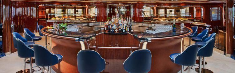 Bar du bateau de croisière Seabourn Encore