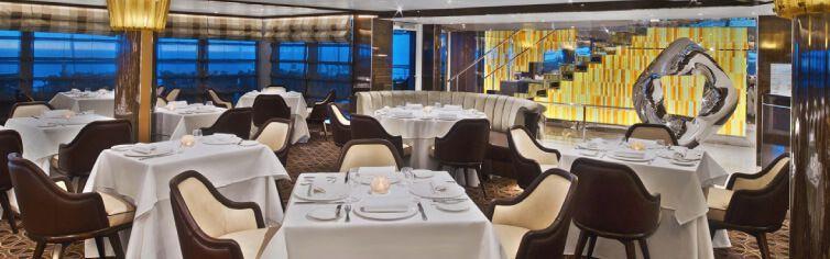 Restaurant du bateau de croisière Seabourn Encore