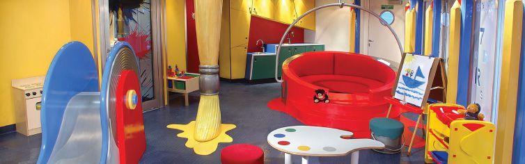 Club dédié aux enfants du bateau de croisière MS Noordam