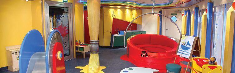 Club dédié aux enfants du bateau de croisière MS Veendam