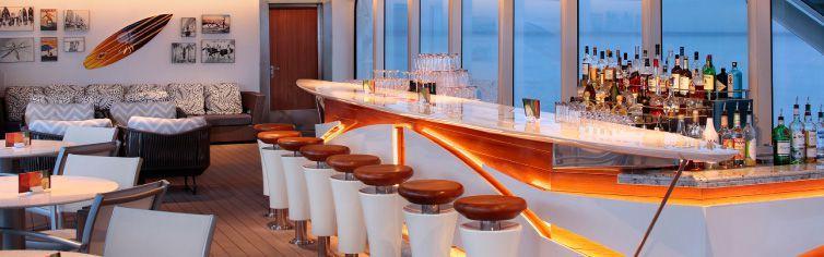 Bar du bateau de croisière MS Volendam