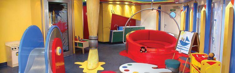Club dédié aux enfants du bateau de croisière MS Zuiderdam