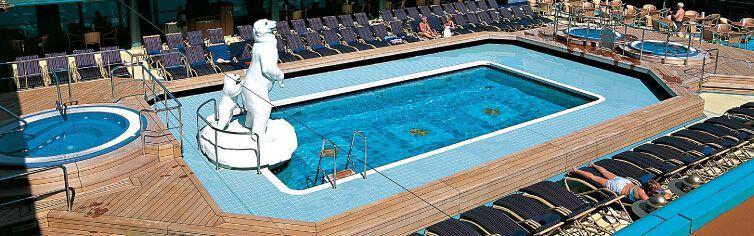 Piscine du bateau de croisière MS Zuiderdam
