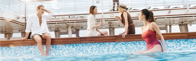 Piscine du bateau de croisière Silver Muse