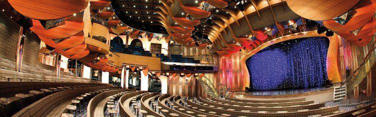 Théâtre du bateau de croisière Costa Deliziosa