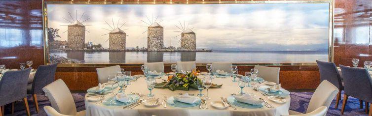 Restaurant du bateau de croisière Celestyal Olympia