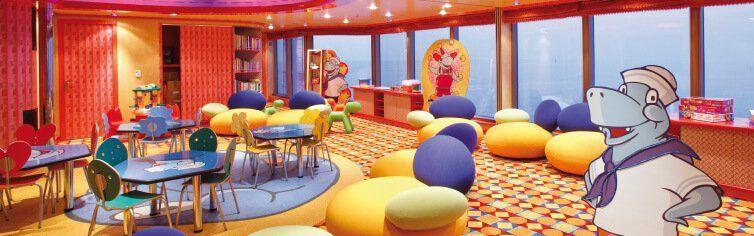 Club pour enfants du bateau de croisière Costa Luminosa