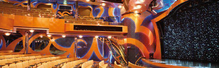 Théâtre du bateau de croisière Costa Luminosa
