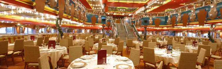 Restaurant du bateau de croisière Costa Magica