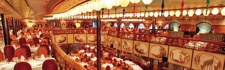 Restaurant du bateau de croisière Costa Mediterranea