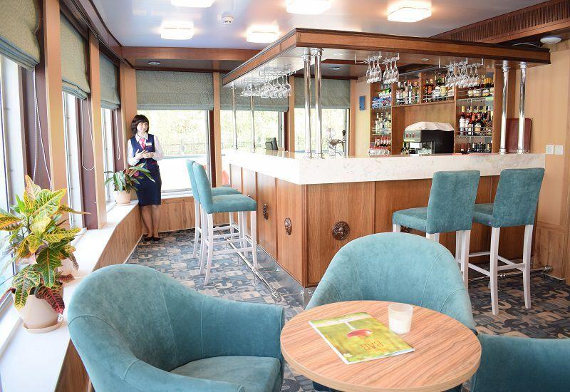 Petit bar à bord du Ms Kronstadt