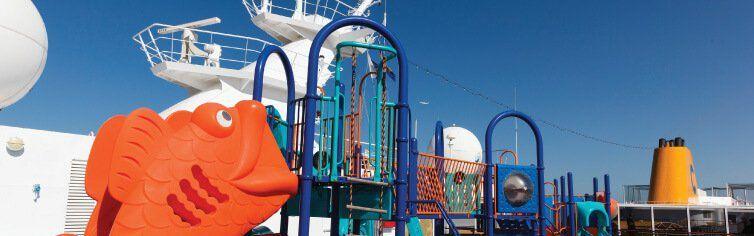 Zone réservée aux enfant à bord du bateau de croisière Costa NeoRomantica