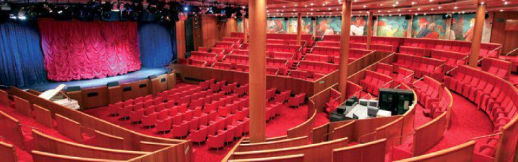 Théâtre du bateau de croisière Costa Neoclassica