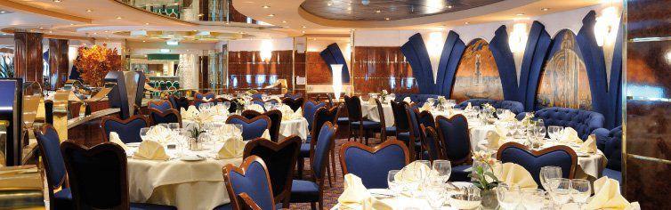 Restaurant du bateau de croisière MSC Poesia