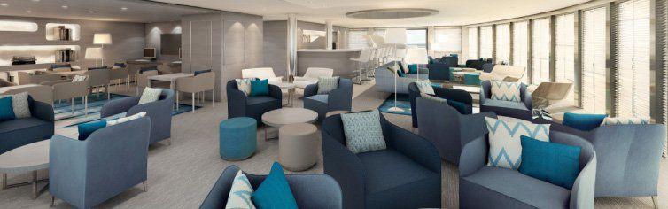Bar observatoire Lounge du bateau de croisière Le Lyrial