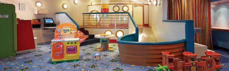 Club dédié aux enfants du bateau de croisière Adventure of the Seas