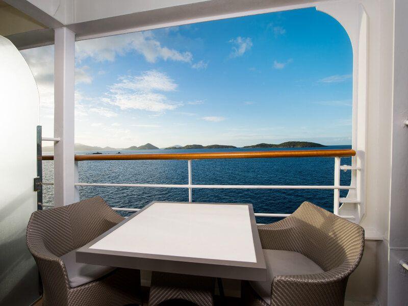 Balcon du bateau de croisière Azamara Journey