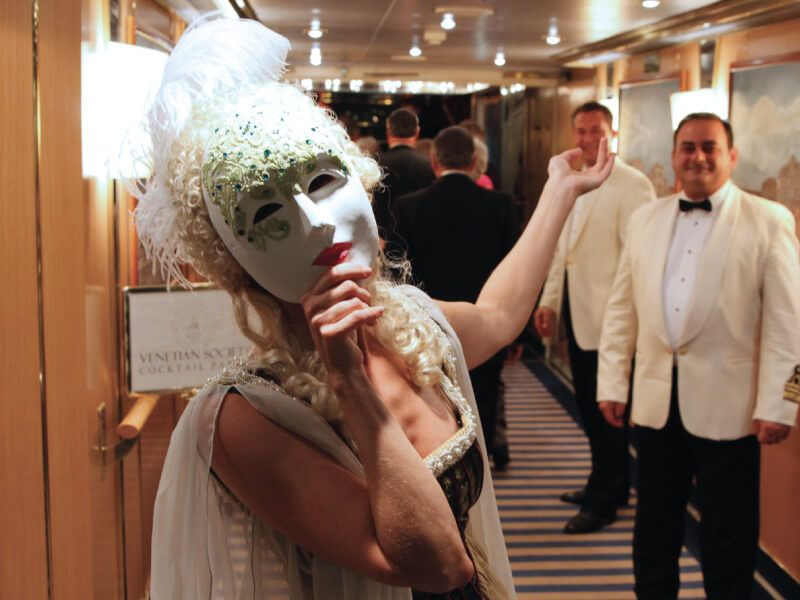 Cocktail Venetian à bord du bateau de croisière Silver Wind