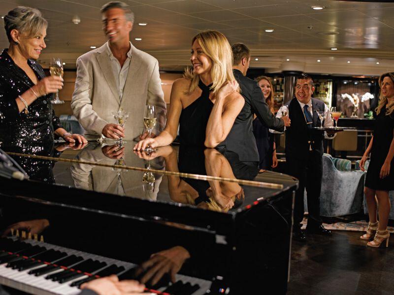 Piano Bar du bateau de croisière Silver Whisper