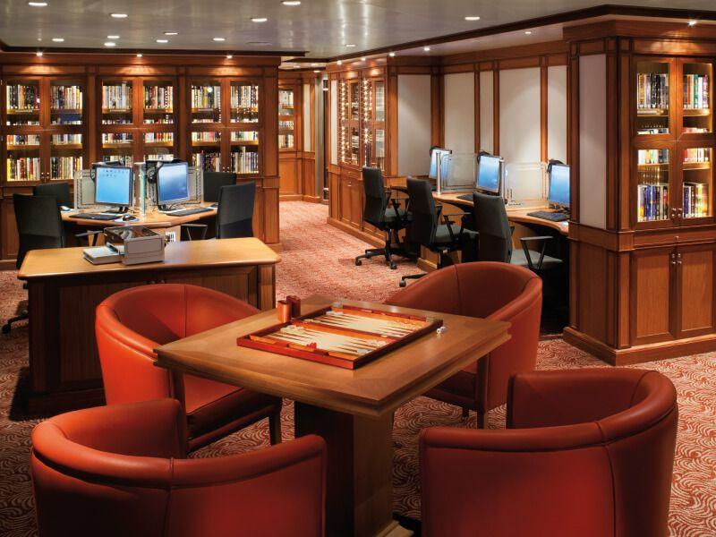 Librairie du bateau de croisière Silver Spirit