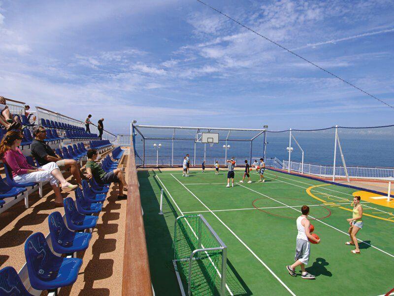 Terrain de Basketball du bateau de croisière Norwegian Jewel