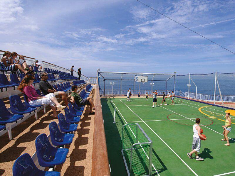 Terrain de Basketball du bateau de croisière Norwegian Pearl