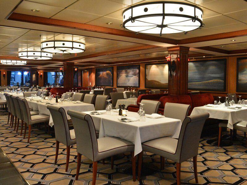Restaurant Cagneys Day du bateau de croisière Norwegian Pearl