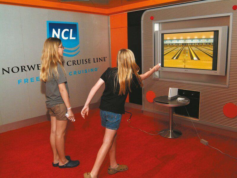 Jouez à la Wii du bateau de croisière Norwegian Pearl