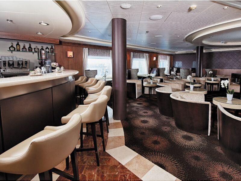 Café du bateau de croisière Seven Seas Navigator
