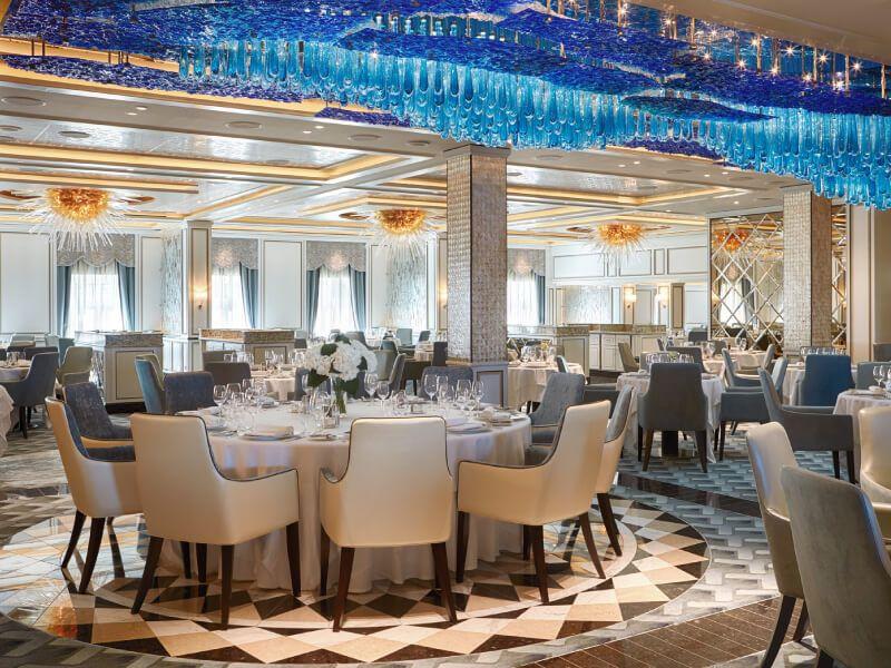 Restaurant Compass du bateau de croisière Seven Seas Explorer
