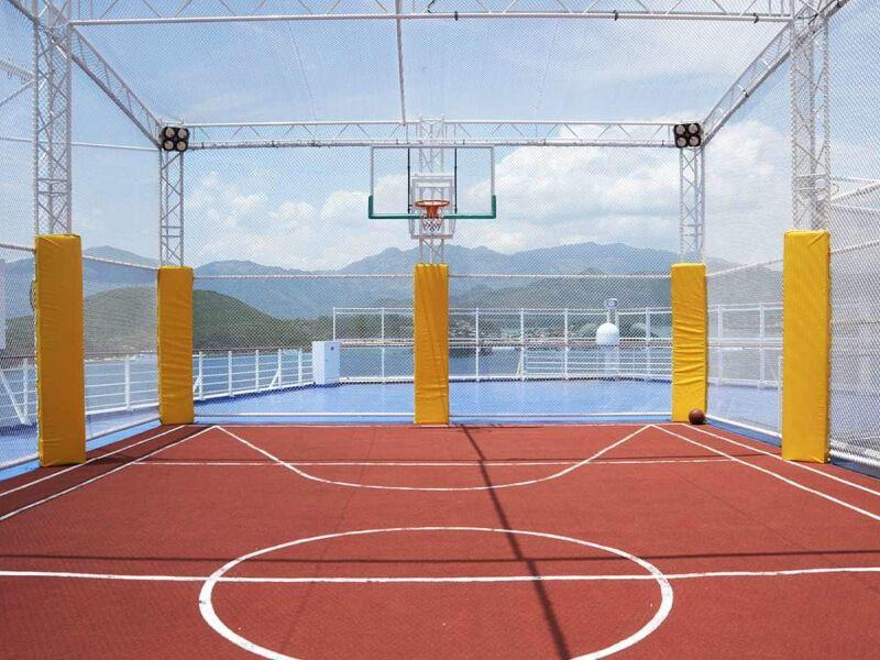 Terrain de sport du bateau de croisière Caribbean Princess