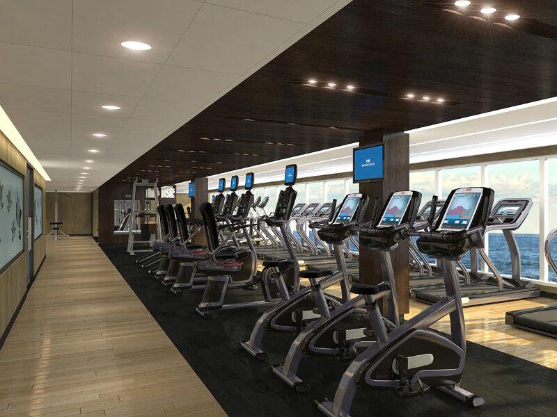 Salle de gym du bateau de croisière Crown Princess