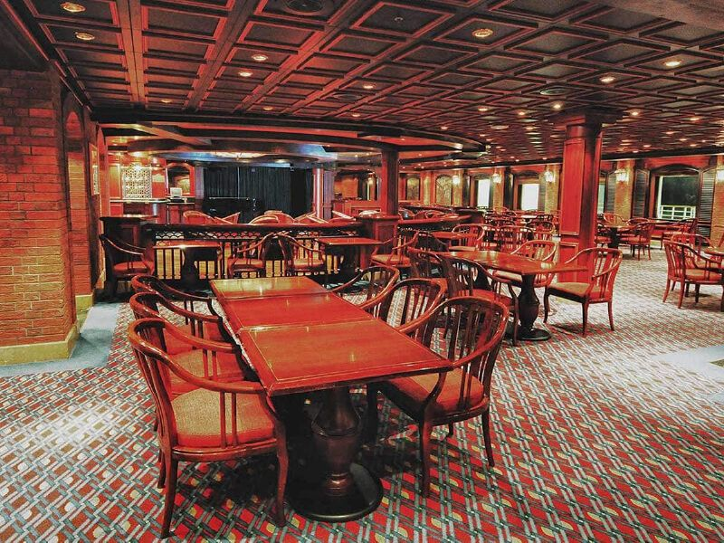Bayou café du bateau de croisière Island Princess