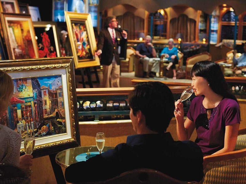 Galerie d'art du bateau de croisière Royal Princess
