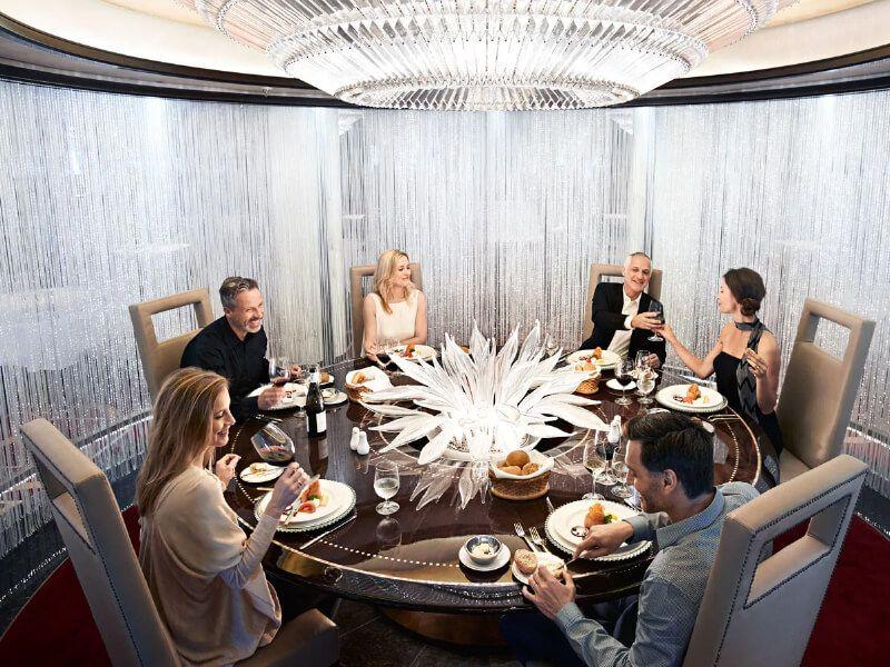 Table de lumière du bateau de croisière Royal Princess