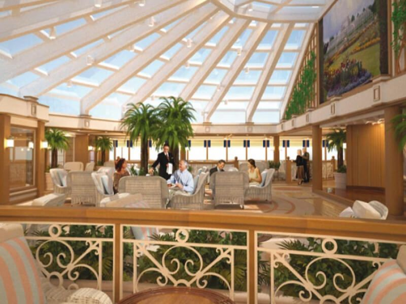 Garden Lounge du bateau de croisière Queen Elizabeth