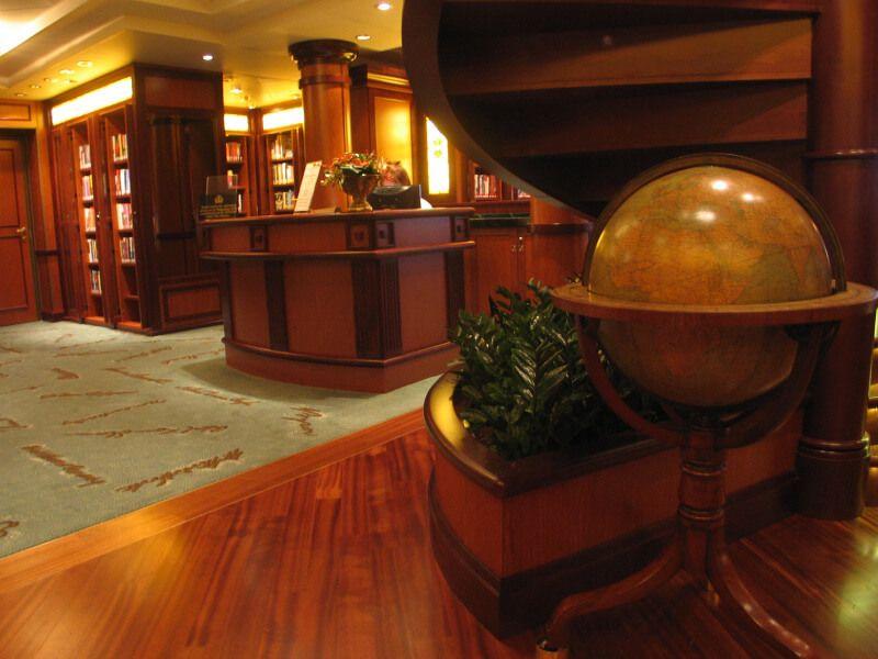 Librairie du bateau de croisière Queen Victoria