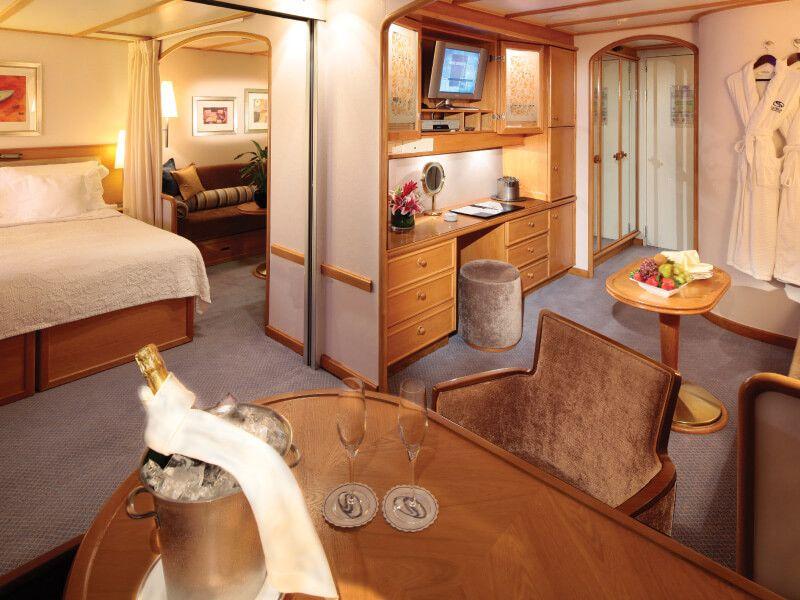Le suite COMMODORE du bateau de croisière SeaDream I