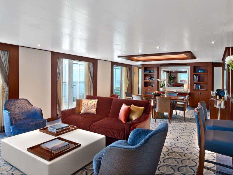 Salon WINTERGARDEN Suite du bateau de croisière Seabourn Encore
