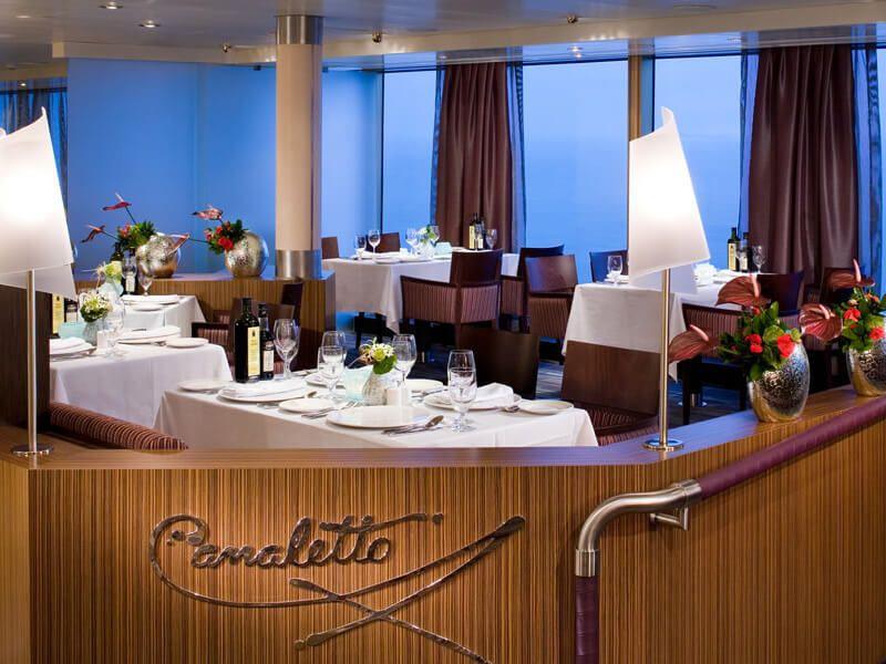 Restaurant CANALETTO du bateau de croisière MS Eurodam