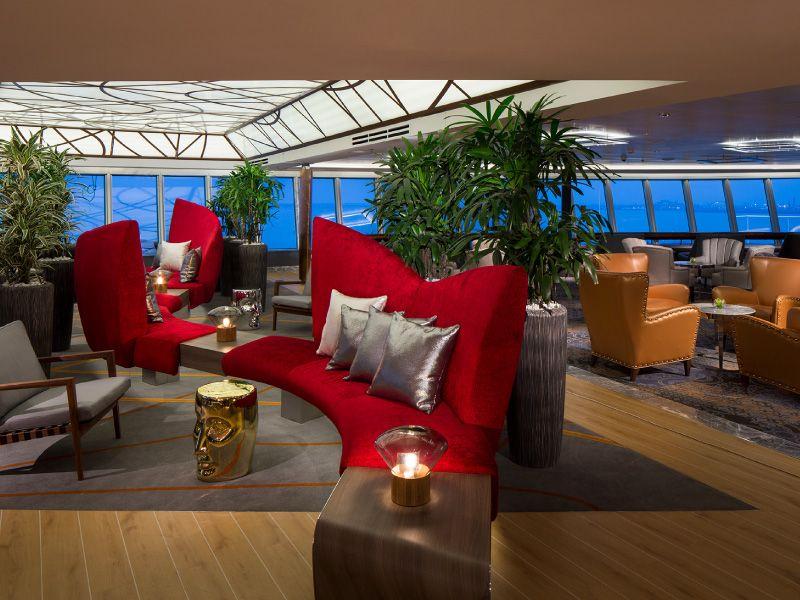 Lounge du bateau de croisière MS Koningsdam