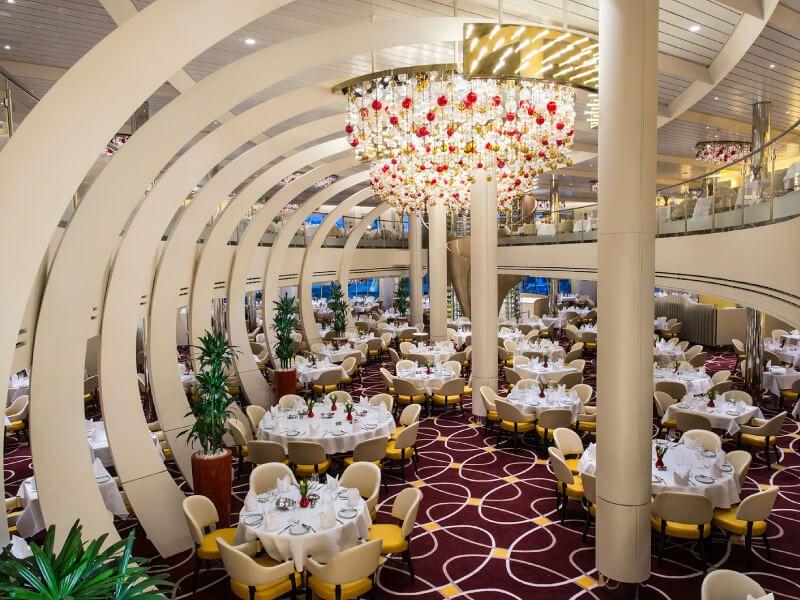 The Dinning Room du bateau de croisière MS Koningsdam