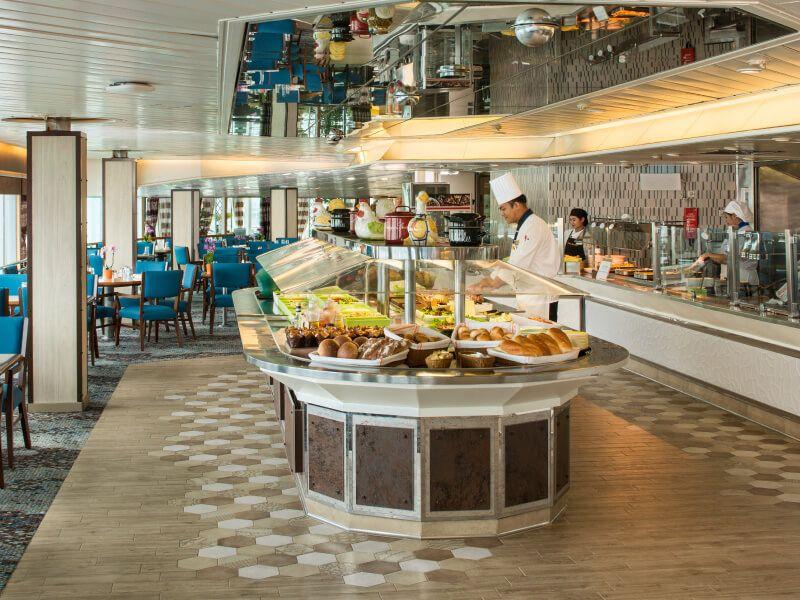 Restaurant Lido du bateau de croisière MS Veendam