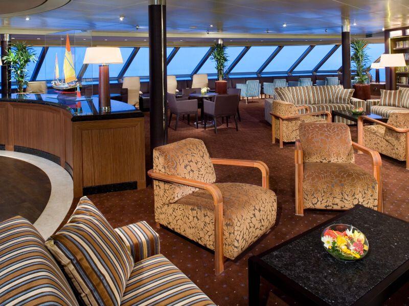 Lounge du bateau de croisière MS Veendam