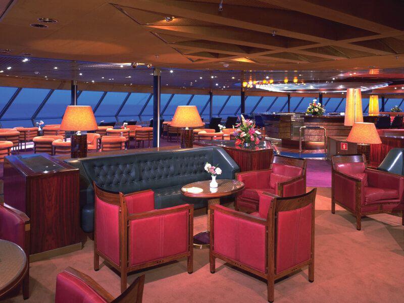 Lounge du bateau de croisière MS Volendam