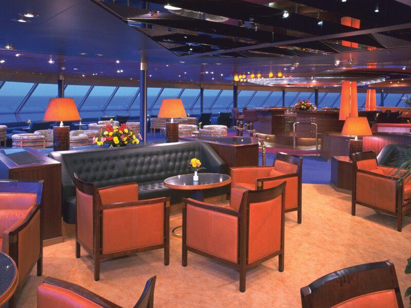 Lounge du bateau de croisière Ms Zaandam